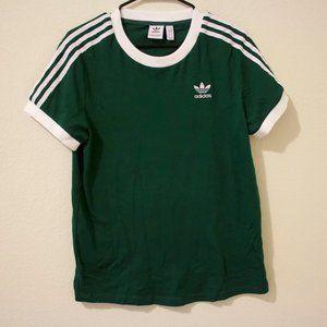 Deep Green Adidas Women's Originals 3-Stripes tee